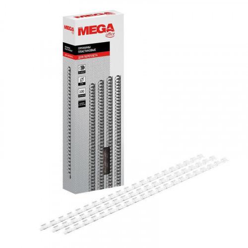 Пружины для переплета пластиковые  6 мм прозрачные 100 штук/упаковка