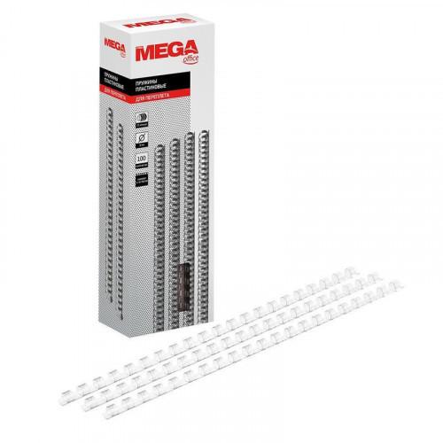 Пружины для переплета пластиковые 8 мм прозрачные 100 штук/упаковка