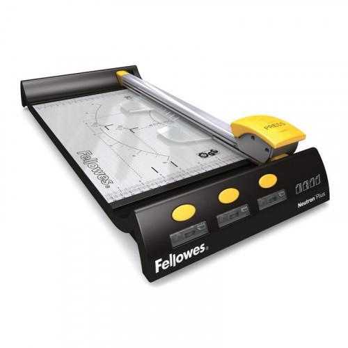 Резак для бумаги Fellowes Neutron Plus A4 320 мм до 10 листов роликовый 4 стиля резки
