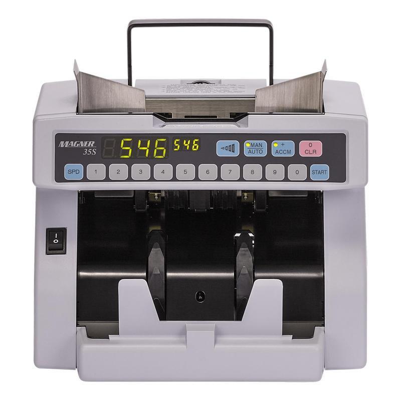 Счетчик банкнот MAGNER 35S до 1300 купюр/минуту детекция по размеру