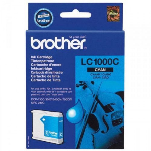 Картридж струйный Brother LC1000C голубой оригинальный