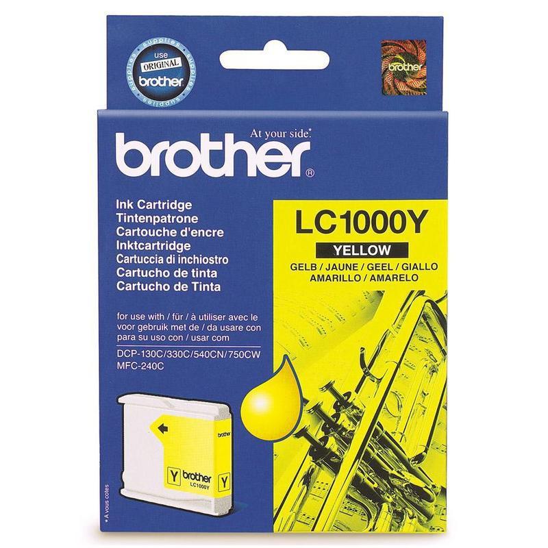 Картридж струйный Brother LC1000Y желтый оригинальный