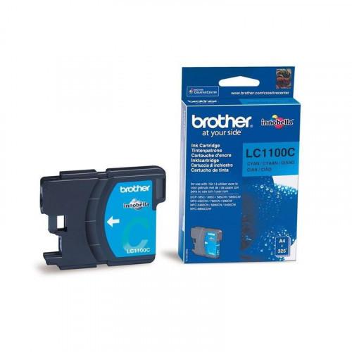 Картридж струйный Brother LC1100C голубой оригинальный