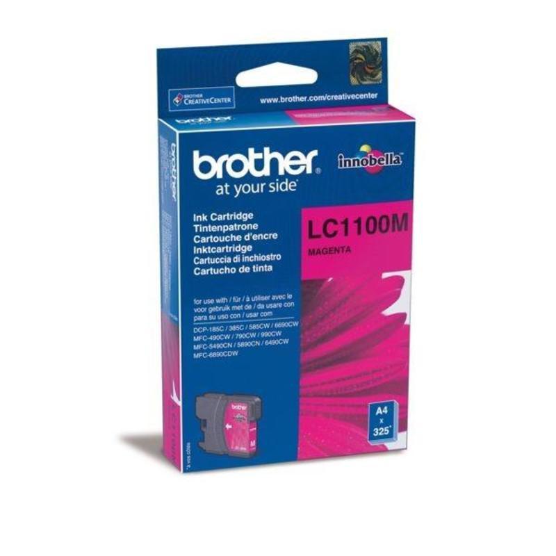 Картридж струйный Brother LC1100M пурпурный оригинальный