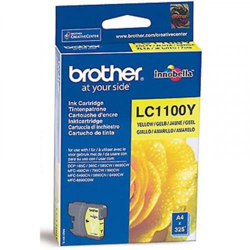 Картридж струйный Brother LC1100Y желтый оригинальный