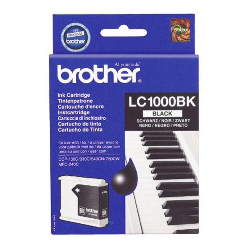 Картридж струйный Brother LC1000BK черный оригинальный