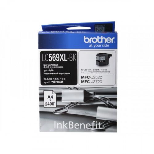 Картридж струйный Brother LC569XLBK черный оригинальный