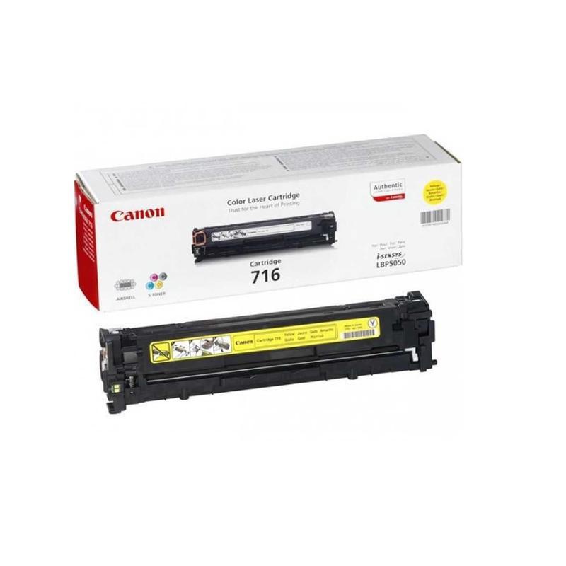 Тонер-картридж лазерный Canon Cartridge 716Y 1977B002 желтый оригинальный