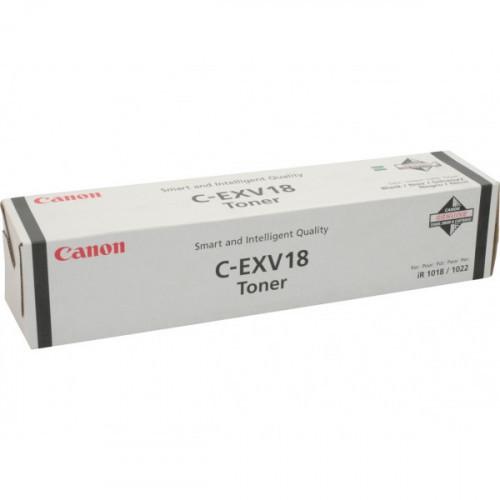 Тонер-картридж лазерный Canon C-EXV18 0386B002 черный оригинальный