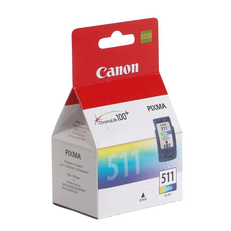 Картридж струйный Canon CL-511 2972B007 цветной оригинальный