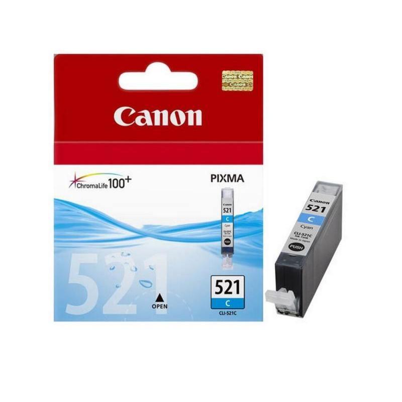 Картридж струйный Canon CLI-521C 2934B004 голубой оригинальный