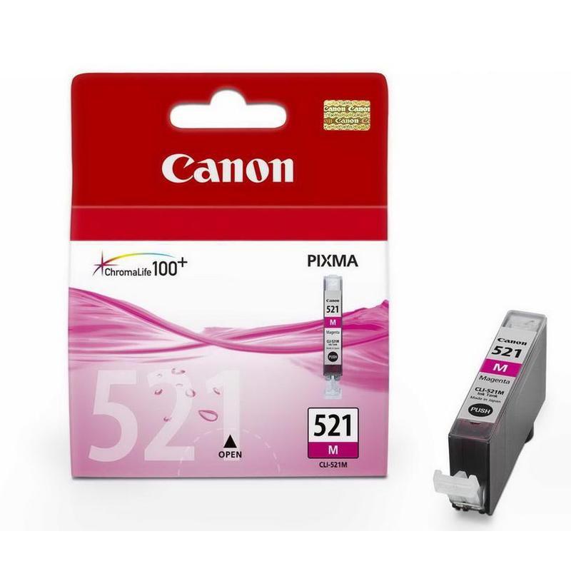 Картридж струйный Canon CLI-521M 2935B004 пурпурный оригинальный
