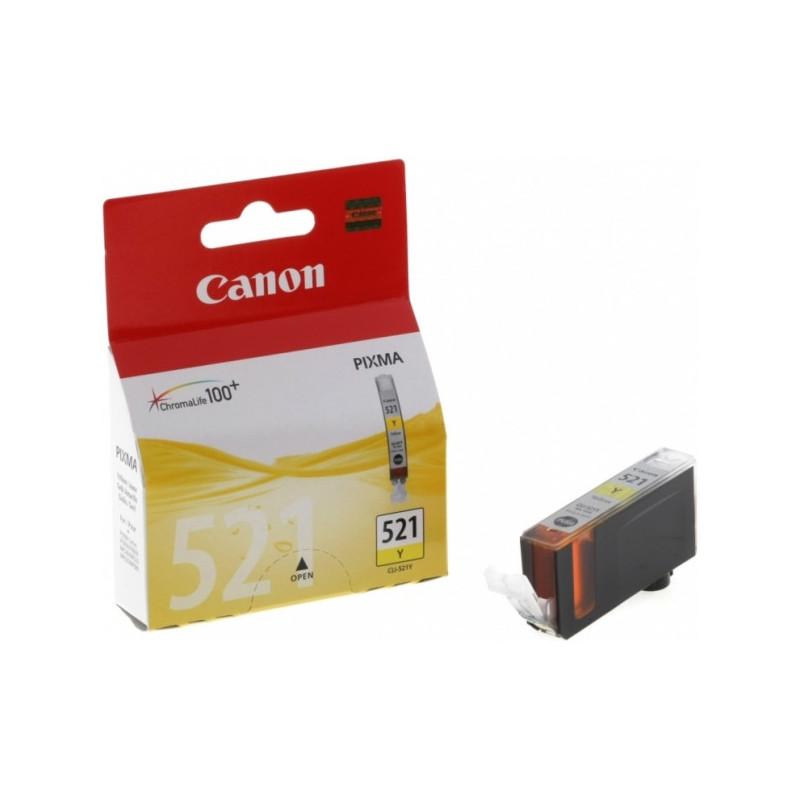 Картридж струйный Canon CLI-521Y 2936B004 желтый оригинальный