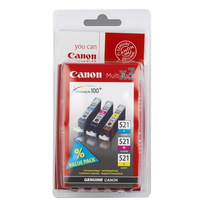 Набор картриджей струйные Canon CLI-521CMY 2934B010 цветные оригинальные
