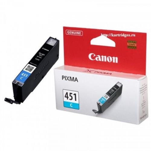 Картридж струйный Canon CLI-451C 6524B001 голубой оригинальный