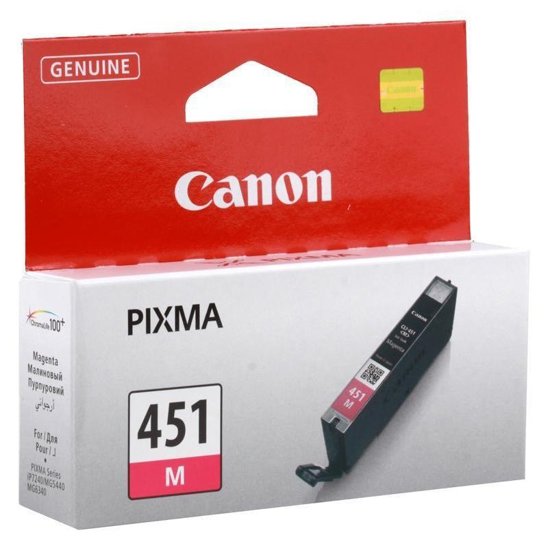 Картридж струйный Canon CLI-451M 6525B001 пурпурный оригинальный