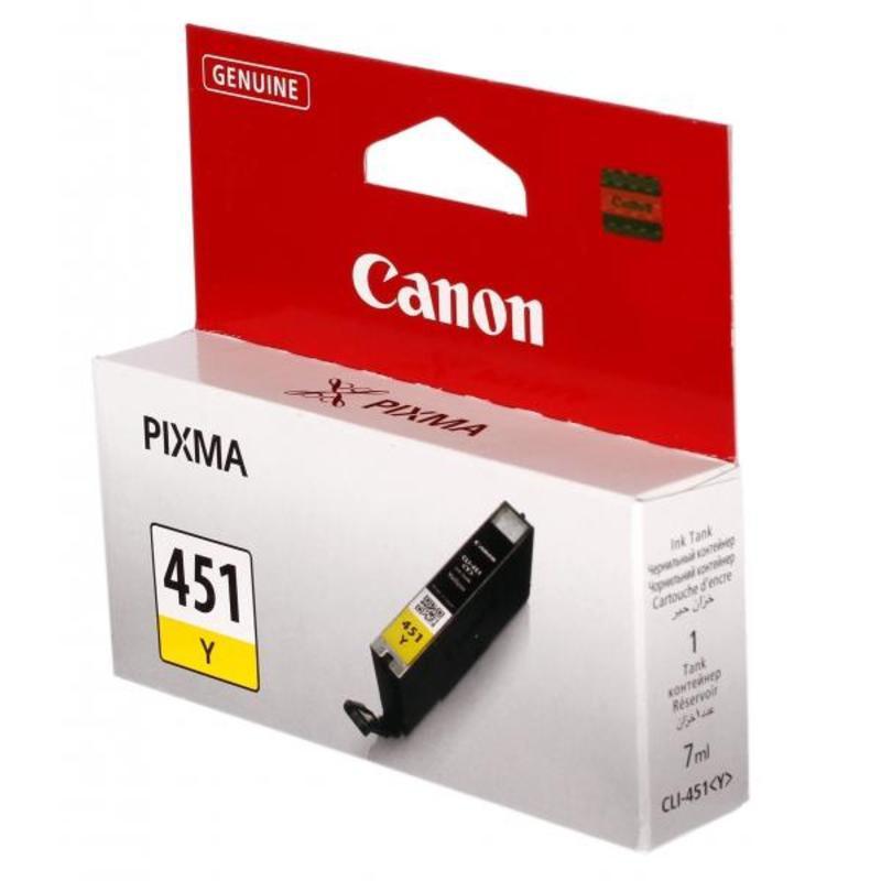 Картридж струйный Canon CLI-451Y 6526B001 желтый оригинальный