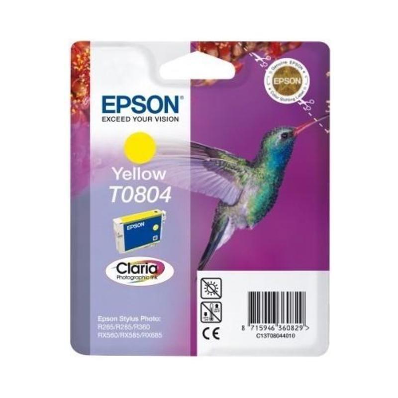 Картридж струйный Epson T0804 C13T08044010/11 желтый оригинальный