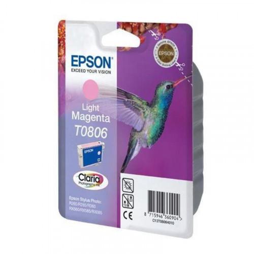 Картридж струйный Epson T0806 C13T08064010/11 светло-пурпурный оригинальный