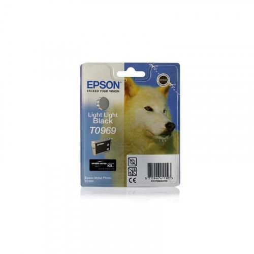 Картридж струйный Epson C13T09694010 светло-серый оригинальный