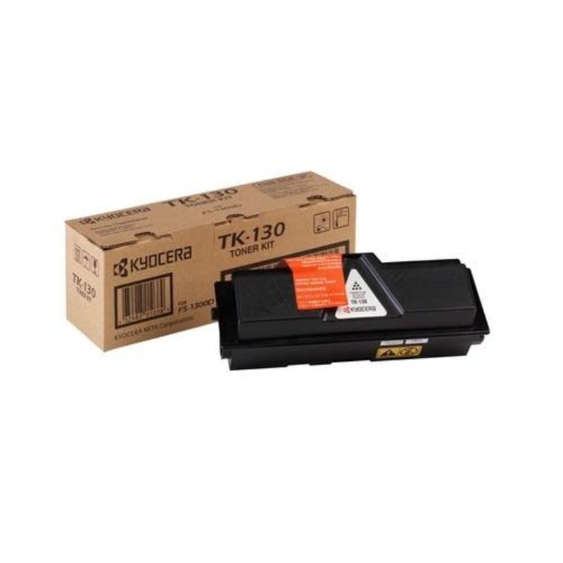 Тонер-картридж лазерный Kyocera TK-130 черный оригинальный