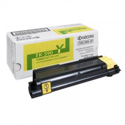 Тонер-картридж лазерный Kyocera TK-590Y желтый оригинальный