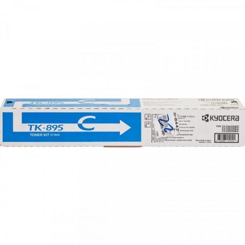 Тонер-картридж лазерный Kyocera TK-895C голубой оригинальный