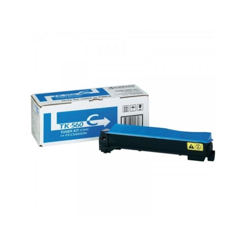 Тонер-картридж лазерный Kyocera TK-560C голубой оригинальный