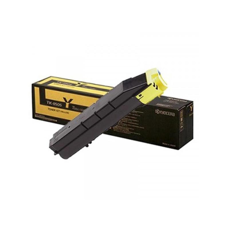 Тонер-картридж лазерный Kyocera TK-8505Y желтый оригинальный