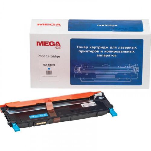 Картридж лазерный MEGA print CLT-C407S голубой совместимый