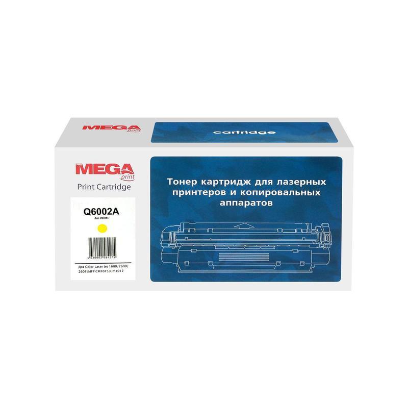 Тонер-картридж лазерный Pro Mega 124A Q6002A желтый совместимый