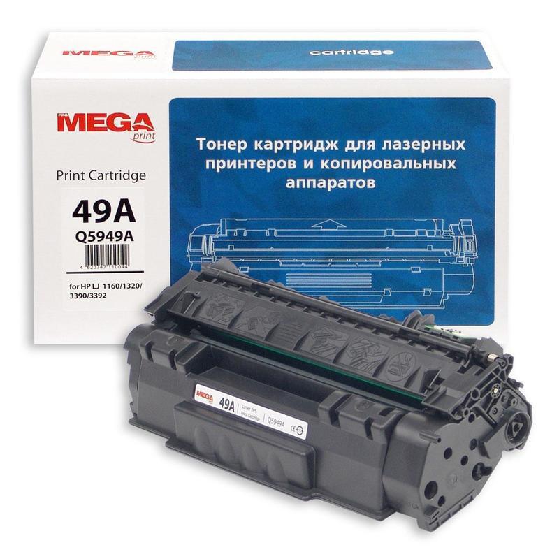 Тонер-картридж лазерный Pro Mega 49A Q5949А черный совместимый