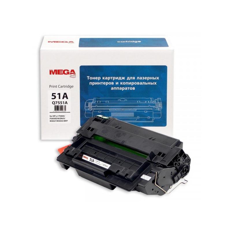Тонер-картридж лазерный Pro Mega 51A Q7551А черный совместимый
