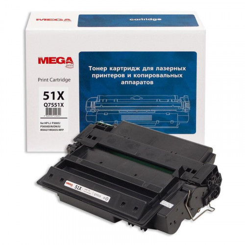 Тонер-картридж лазерный Pro Mega 51X Q7551X черный совместимый