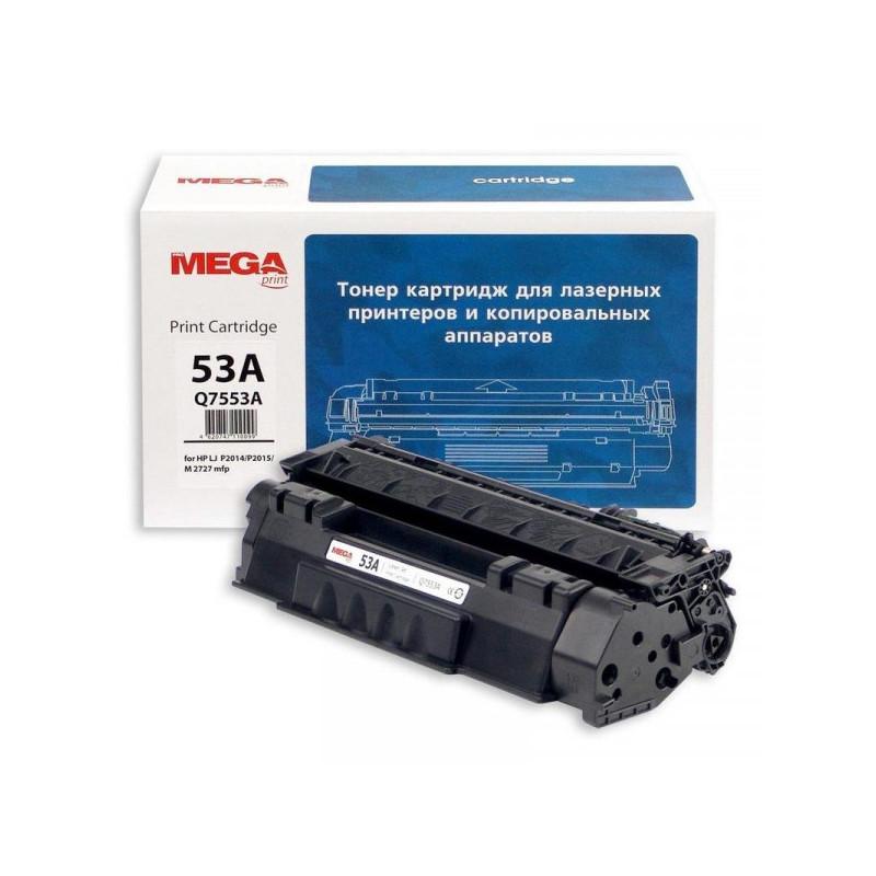Тонер-картридж лазерный Pro Mega 53A Q7553А черный совместимый