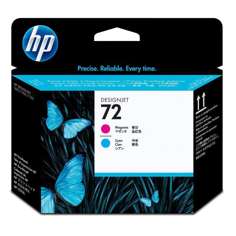 Головка печатающая HP 72 C9383A пурпурная и голубая оригинальная