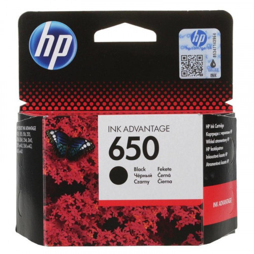 Картридж струйный HP 650 CZ101AE черный оригинальный