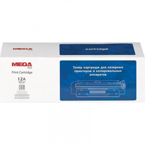 Тонер-картридж лазерный Pro Mega 12A Q2612A черный совместимый