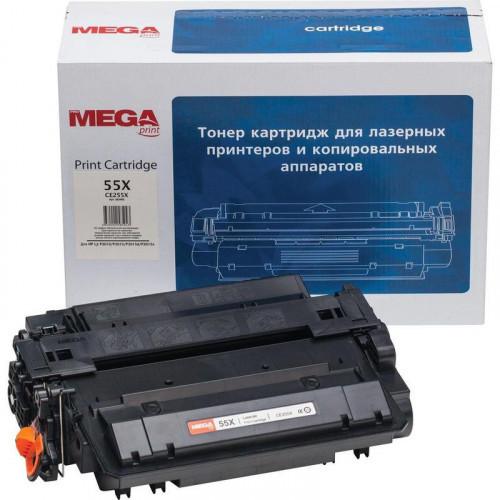 Картридж лазерный MEGA print 55X CE255X черный совместимый