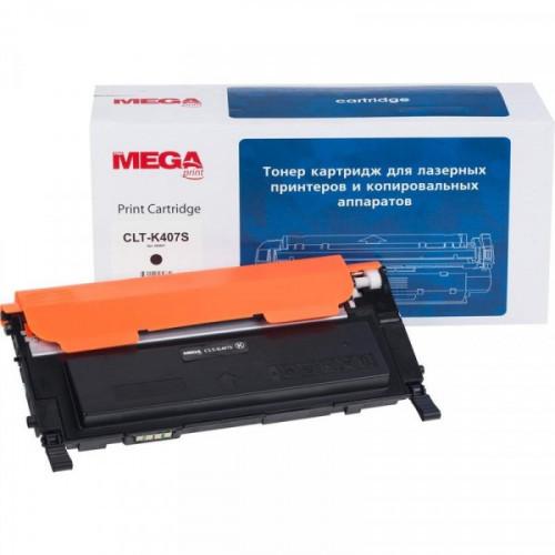Картридж лазерный MEGA print CLT-K407S черный совместимый