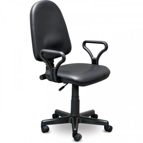 Кресло для оператора Prestige GTP RU черное искусственная кожа/пластик