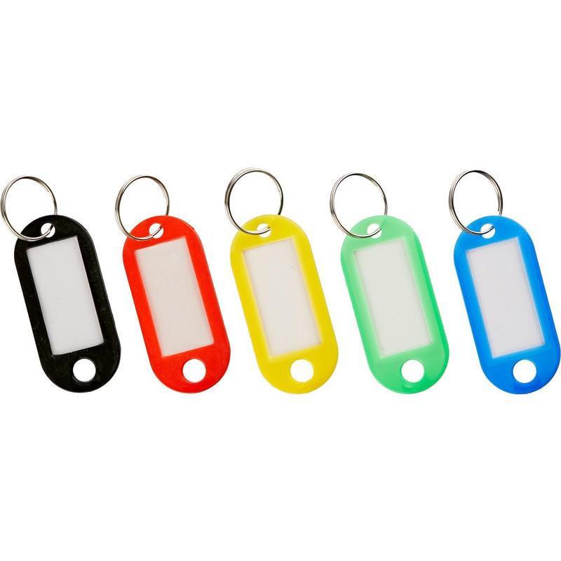 Бирка для ключей 10 штук в упаковке 5 цветов