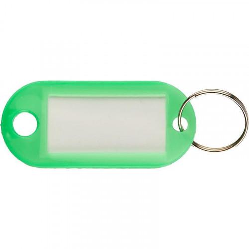 Бирка для ключей 10 штук в упаковке зеленая