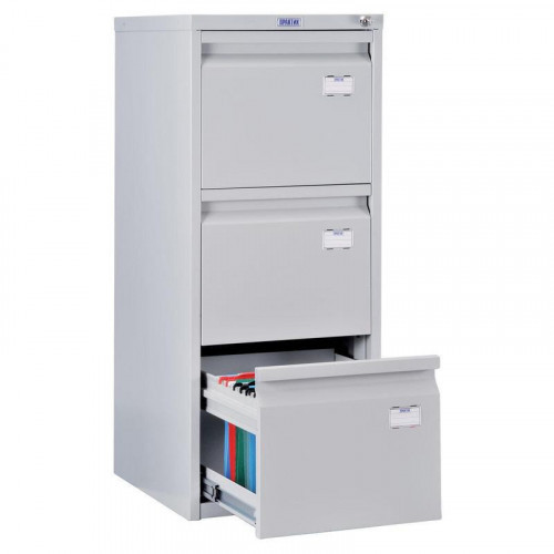 Шкаф картотечный ПРАКТИК A-43 408х480х995 мм на 3 секции для А4