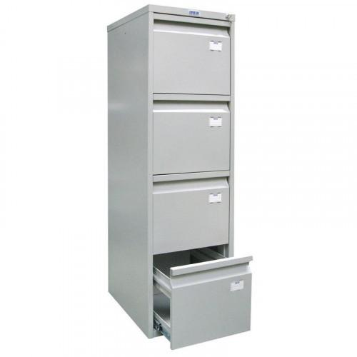 Шкаф картотечный ПРАКТИК A-44 410х483х1303 мм на 4 секции для А4