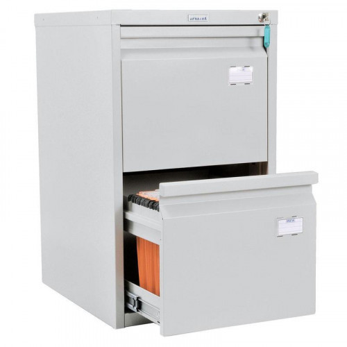 Шкаф картотечный ПРАКТИК A-42 408х480х685 мм на 2 секции для А4