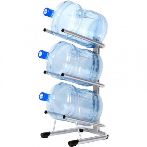 Металлический стеллаж для бутилированной воды СТЭЛЛА-3 на 3 тары 360х450х820 мм