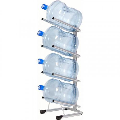 Металлический стеллаж для воды бутилированной СТЭЛЛА-4 на 4 тары 360х450х1120 мм