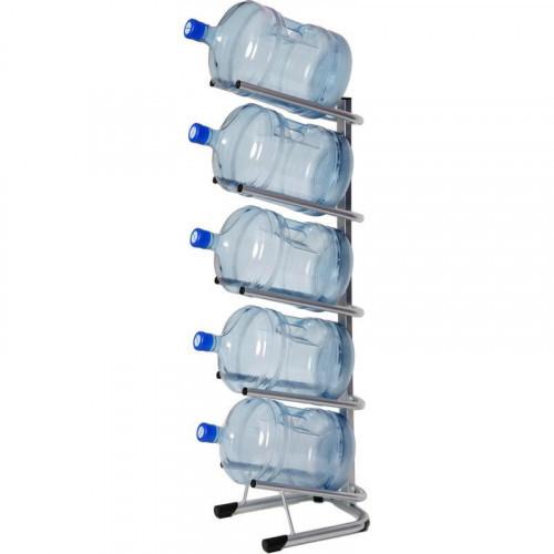 Металлический стеллаж для воды бутилированной СТЭЛЛА-5 на 5 тар 360х450х1420 мм
