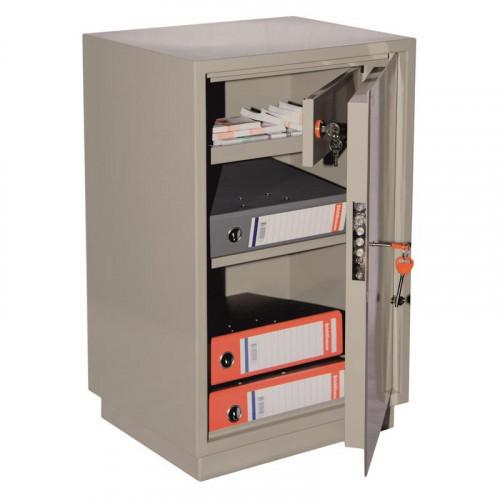 Металлический шкаф для бумаг на роликах КБС012т 420х360х670 мм трейзер